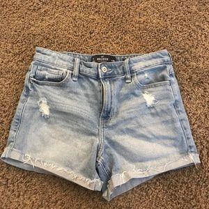 Hollister high rise midi shorts